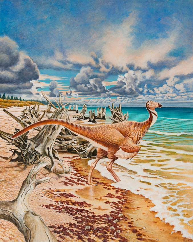 Painting by Donna Sloan, scientific illustrator at the Royal Tyrrell Museum of Palaeontology.